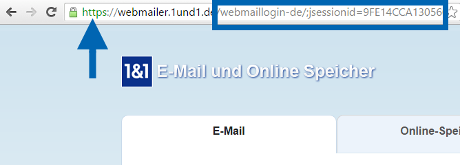 1und1 Webmailer-Adresse