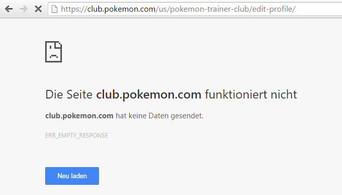Browsermeldung: Website club.pokemon.com funktioniert nicht - ERR-EMPTY_RESPONSE