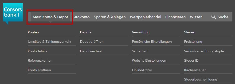 Consorsbank - Mein Konto und Depot