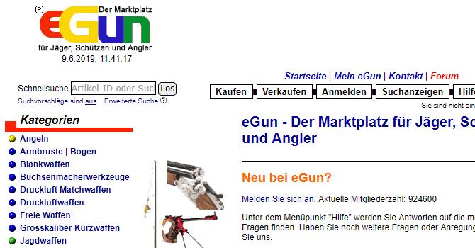 eGun Startseite