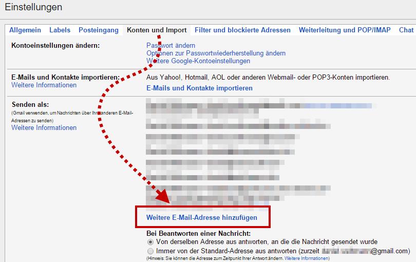 Gmail - Konten und Import