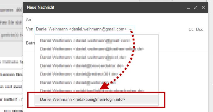 Gmail - Senden als