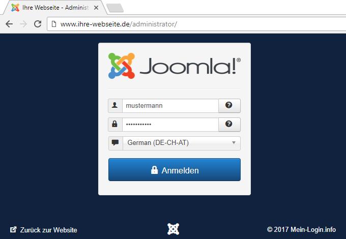 Joomla Admin URL und Login-Seite