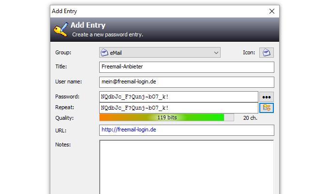 Sicheres Passwort generieren mit KeePass
