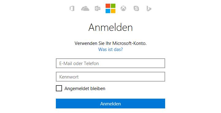 MSN Login unter live.com