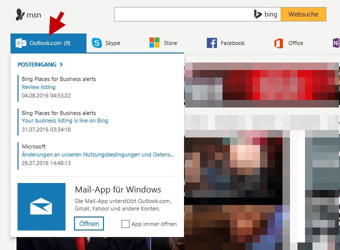 MSN Webmail Posteingang
