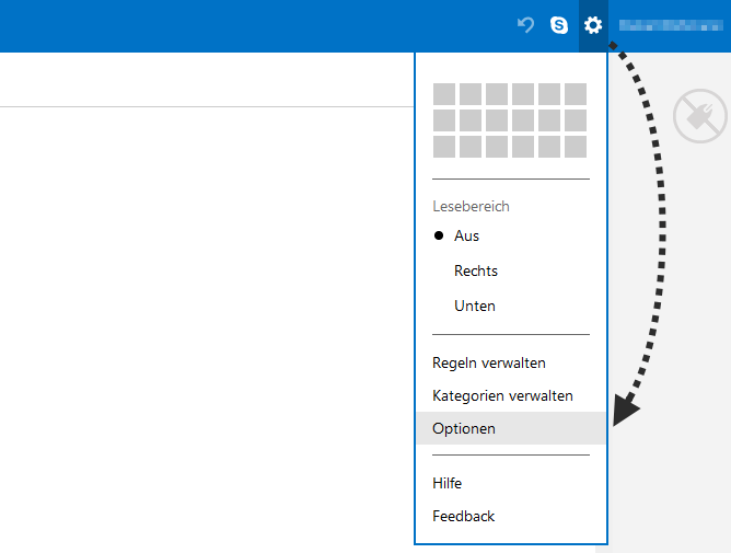 Outlook.com Einstellungen
