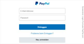 PayPal Login Formular