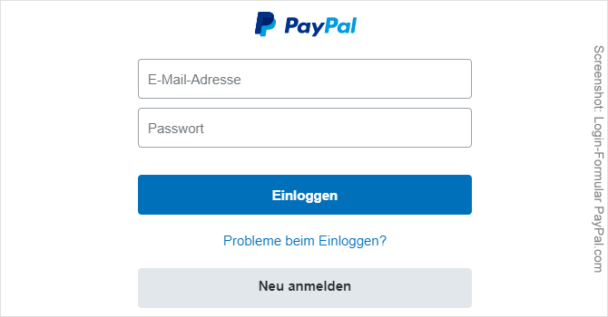 Bei Paypal Einloggen