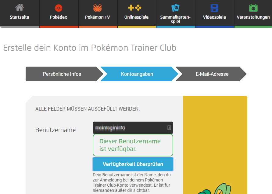 Pokemon Trainer Club Anmeldung