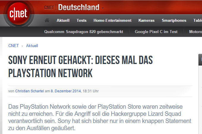 Sony gehackt