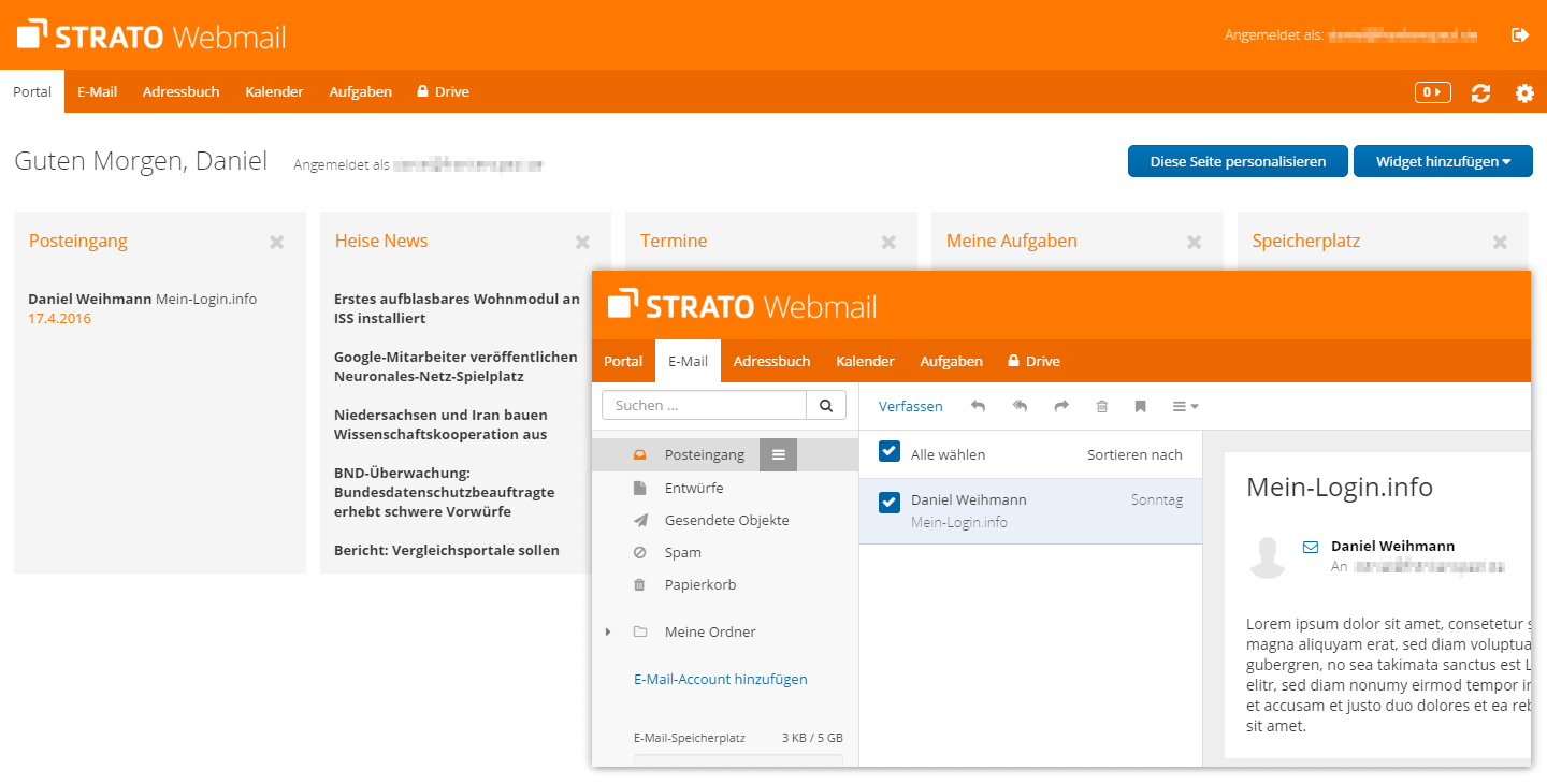 Strato Webmail (Communicator)