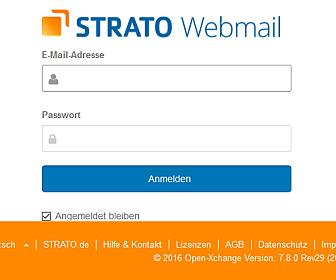 Strato Webmail-Login