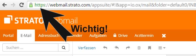 Strato Webmail - Login nur verschlüsselt per https