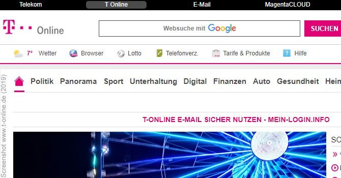 T Online Email Center Login Klassisch