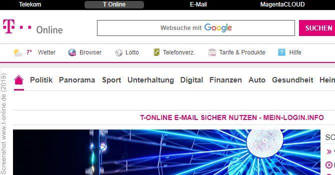 T-Online E-Mail Login