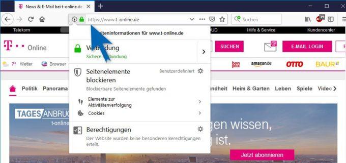 Verschlüsselte Verbindung zu T-Online